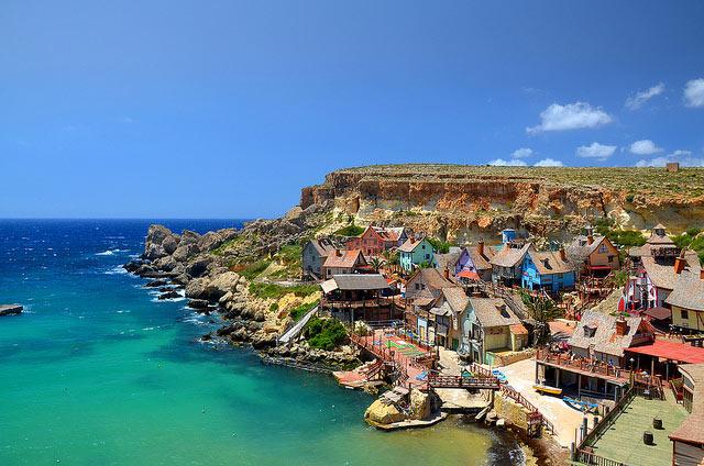 El pueblo Popeye Village de Malta