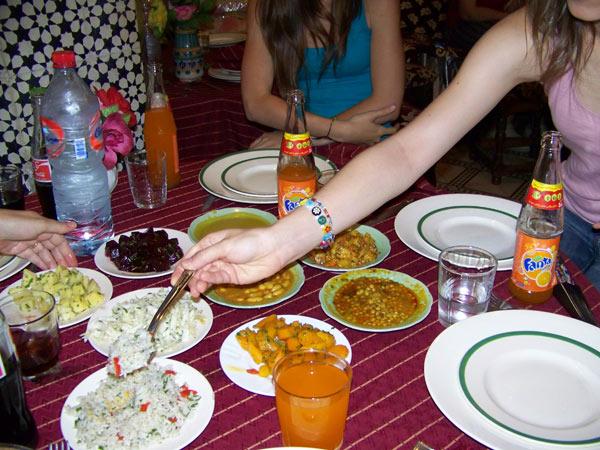 Comida de Marruecos que me puso la barriga del revés.
