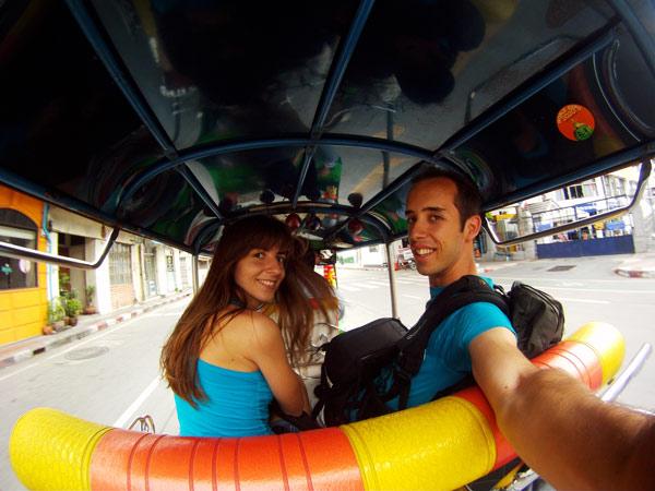 En tuktuk por Tailandia y sus conductores locos